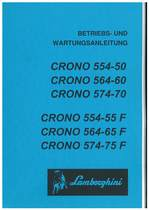 CRONO 554-50 - 564-60 - 574-70 e F - Bedienung und Wartung