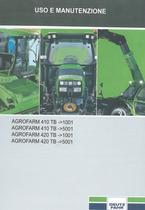 AGROFARM 410 TB ->1001 - AGROFARM 410 TB ->5001 - AGROFARM 420 TB ->1001 - AGROFARM 420 TB -> 5001 - Uso e manutenzione