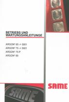 ARGON³ 65 ->5001 - ARGON³ 75 ->5001 - ARGON³ 75 P - ARGON³ 80 - Betriebs und Wartungsanleitung