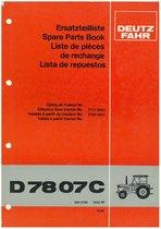 D 7807C - Ersatzteilliste / Spare Parts Book / Liste de pièces de rechange / Lista de repuestos