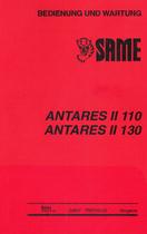 ANTARES II 110 - 130 - Bedienung und Wartung