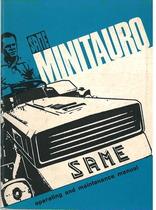 MINITAURO - Libretto uso & manutenzione