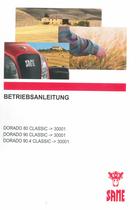 DORADO 80 CLASSIC ->30001 - DORADO 90 CLASSIC ->30001 - DORADO 90.4 CLASSIC ->30001 - Betriebsanleitung