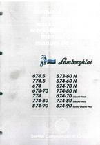 674.5 - 774.5 - 674 - 674.70-774 - 774.80 - 874.90 - 573.60N - 574.60N - Manuale d'Officina