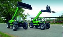 [Deutz-Fahr] trattore Agrovector 30.7 al lavoro con pala caricatrice e trattore Agrovector 26.6 con caricatore frontale