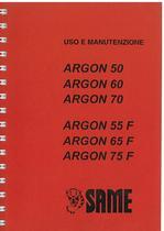ARGON 50 - 60 - 70 e 55 - 65 - 75 F Libretto uso & manutenzione