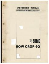 ROW CROP 90 - Workshop manual