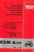 DX 4.70 - Ersatzteilliste / Spare parts book / Liste de pièces de rechange / Lista de repuestos
