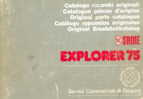 EXPLORER 75 - Catalogo ricambi originali / Catalogue pièces d'origine / Original parts catalogue / Catalogo repuestos originales / Original Ersatzteilkatalog