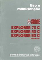 EXPLORER 70 C- 80C- 90 C ERGOMATIC - Uso e Manutençao