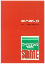 CENTURION 75 SPECIAL - Libretto uso & manutenzione