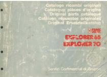 EXPLORER 65 - 70 - Catalogo Parti di Ricambio / Catalogue de pièces de rechange / Spare parts catalogue / Ersatzteilliste / Lista de repuestos