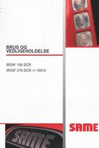IRON³ 190 DCR - IRON³ 210 DCR -> 10001 - Brug og vedligeholdelse