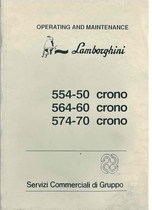 554.50 CRONO - 564.60CRONO - 574.70 CRONO - Operating and Maintenance