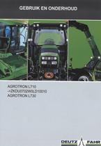 AGROTRON L710 ->ZKDU0702W0LD10010 - AGROTRON L730 - Gebruik en onderhoud