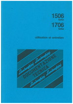 1506 TURBO/1706 TURBO - Utilisation et Entretien