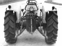 Particolare della parte posteriore di un trattore Lamborghini