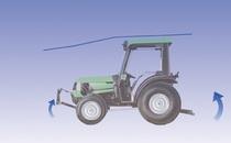 [Deutz-Fahr] trattore serie Agroplus, particolari sollevatore e powertrain