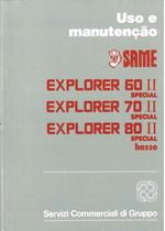 EXPLORER 60 II - 70 II- 80 II SPECIAL BASSO - Uso e Manutençao