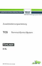 TCS TOPLINER 8 XL - Zusatzbedienungsanleitung