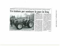 Un trattore per seminare la pace