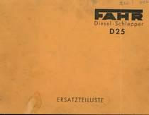 D 25 - Ersatzteilliste