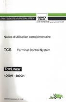 TCS Terminal Control System - TOPLINER 4060 H - 4090 H - Notice d'utilisation complémentaire