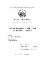 PICINARDI Andrea, ELSHEIKHALI Issa, Comfort climatico di una cabina per macchina agricola, Brescia, S.n., 2006