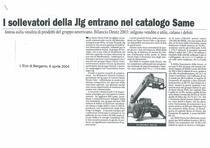 I sollevatori della Jlg entrano nel catalogo SAME
