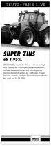 DEUTZ-FAHR LIVE, Super zins ab 1,95%.