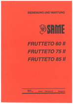 FRUTTETO 60 II- 75 II - 85 II - Bedienung und wartung