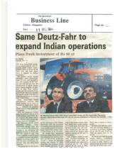 SAME Deutz-Fahr to expand Indian operations