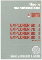 EXPLORER 60 II- 70 II - 80 II - 90 II TURBO - Libretto uso & manutenzione