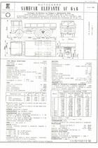 Atto di omologazione dell'autocarro SAME Samecar Elefante AC 6x6