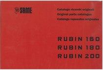 RUBIN 160-180-200 - Catalogo Parti di Ricambio / Spare parts catalogue / Lista de repuestos