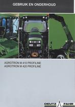 AGROTRON M 410 PROFILINE - AGROTRON M 420 PROFILINE - Gebruik en onderhoud