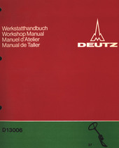 D 13006 - Werkstatthandbuch / Workshop manual / Manuel d'atelier / Manual de taller