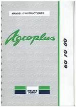 AGROPLUS 60-70-80 - Utilisation et Entretien