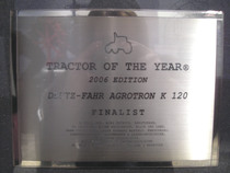 Tractor of the year 2006 Edition - Deutz- Agrotron K 120 Finalist