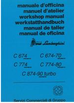 C 674 - 674.70 - 774 - 774.80 - 874.90 TURBO ERGOMATIC - Manuale d'Officina