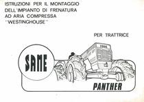 """Istruzioni per il montaggio dell'impianto di frenatura ad aria compressa """"Westinghouse"""" per trattrice SAME PANTHER"""