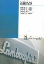 CRONO 65 ->5001 - CRONO 75 ->5001 - CRONO 75 P - CRONO 80 ->5001 - Gebruik en onderhoud