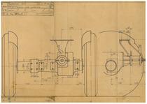 Trattorino 901 - Schema ponte posteriore - Disegno 1936/5