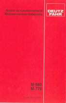 M 660 - M 770 - Notice de fonctionnement