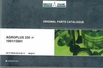 AGROPLUS 320 ->1001/15001 - Original parts catalogue