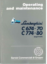 C 674.70 - C 774.80 ERGOMATIC - Operating and Maintenance