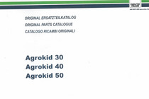 AGROKID 30 - 40 - 50 - Original Ersatzteilkatalog / Original parts catalogue / Catalogo ricambi originali