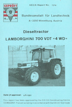 "Report test of Lamborghini 700 VDT ""4WD"""