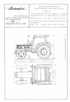 Atto di omologazione della trattrice Lamborghini 550 K DT