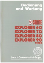 EXPLORER 60 - 70 - 80 - 90 TURBO - Bedienung und wartung